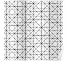 Triangles pattern in black and white Poster