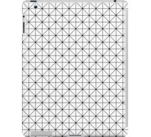 Triangles pattern in black and white iPad Case/Skin