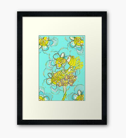 Yellow Winged Flower Fairy  Framed Print