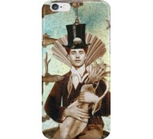 Steampunk Undersea Portrait with Squid iPhone Case/Skin