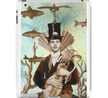 Steampunk Undersea Portrait with Squid iPad Case/Skin