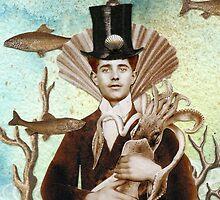 Steampunk Undersea Portrait with Squid by WinonaCookie