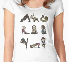 TWD YOGA Women's Fitted Scoop T-Shirt