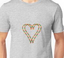 Two hearts from flowers Unisex T-Shirt