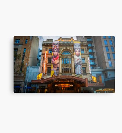The Regent Theatre at Dusk - Melbourne, Victoria Metal Print