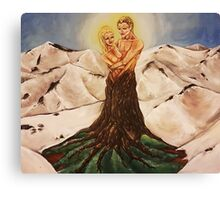 Entwined Lovers Canvas Print