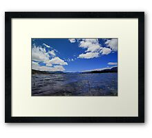 Clear blue  Framed Print