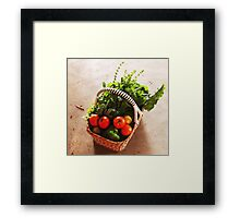 From Michelle's garden . . . a basket of goodies . . . Kilmore East Framed Print