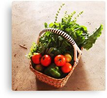 From Michelle's garden . . . a basket of goodies . . . Kilmore East Canvas Print
