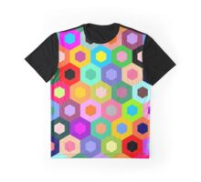 Multicolor hexagons pattern Graphic T-Shirt