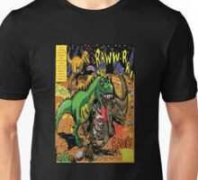"Space Chick & Nympho: Vampire Warrior Party Girl Comix #1-  Comic Page ""Dino Fight"" Unisex T-Shirt"
