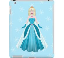 Snow Princess In Blue Dress Front iPad Case/Skin