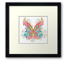 Colorful Artistic Butterfly Art Framed Print