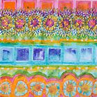 Square and Flower Lines Pattern by Heidi Capitaine