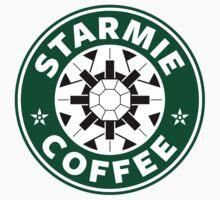 Starmie Coffee - Pokemon Starbucks (white) Kids Tee