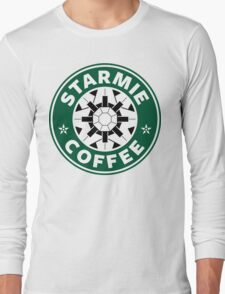 Starmie Coffee - Pokemon Starbucks (white) Long Sleeve T-Shirt