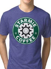 Starmie Coffee - Pokemon Starbucks (white) Tri-blend T-Shirt