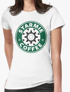Starmie Coffee - Pokemon Starbucks (white) Womens Fitted T-Shirt