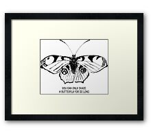 Butterfly; sketch; freehand drawing Framed Print