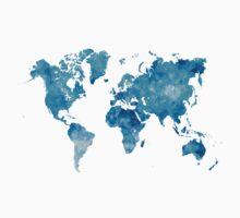 World map in watercolor  Kids Tee