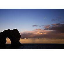 Post rain storm sunset sky at Durdle Door, Dorset Photographic Print
