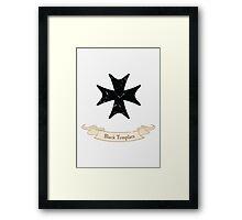 Black Templars - Warhammer Framed Print