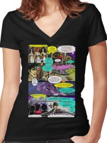 """""""Code Name: King #2"""" Comic Book Page Art - 'No Horse Fartin' in The Caddy' Women's Fitted V-Neck T-Shirt"""