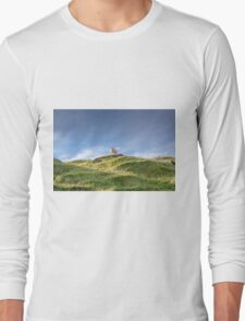 sheep atop a hillock is the king of the castle. Long Sleeve T-Shirt