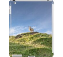sheep atop a hillock is the king of the castle. iPad Case/Skin