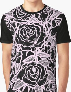 roses -black & pink Graphic T-Shirt