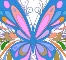 Colorful Artistic Blue Butterfly Art Sticker