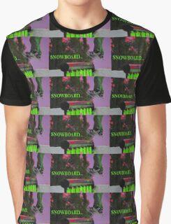 Snowboard... Purple Graphic T-Shirt