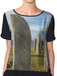 Callanish standing stones Chiffon Top