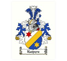 Kuipers Coat of Arms (Dutch) Art Print