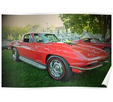 Side piped Vette Poster