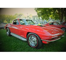 Side piped Vette Photographic Print