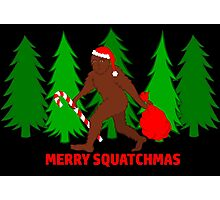 Merry Squatchmas Funny Christmas Bigfoot Santa Photographic Print