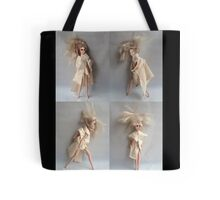 Barbie Dolls. Miniature Art. Fashion Illustration. Collage® Tote Bag