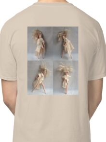 Barbie Dolls. Miniature Art. Fashion Illustration. Collage® Classic T-Shirt