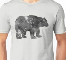 Bear Watercolor Art in Black and White Unisex T-Shirt