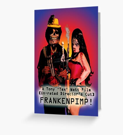Frankenpimp (2009) - Movie Poster  Greeting Card