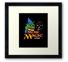 Meme Magic Is Real Pepe The Frog Wizard Framed Print
