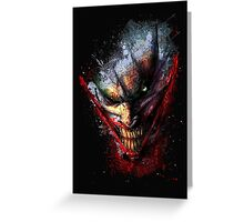 Joker print Greeting Card