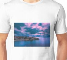 Blurry clouds at Cala d'Enmig Unisex T-Shirt