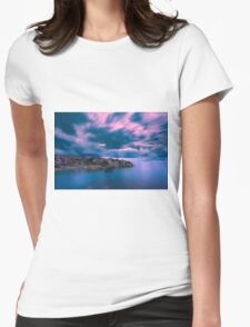 Blurry clouds at Cala d'Enmig Womens Fitted T-Shirt