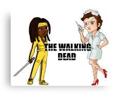 Kill the walking dead Canvas Print