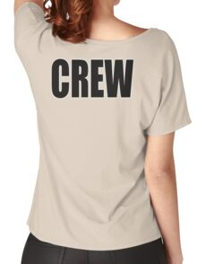 CREW, Black type Women's Relaxed Fit T-Shirt