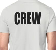 CREW, Black type Unisex T-Shirt
