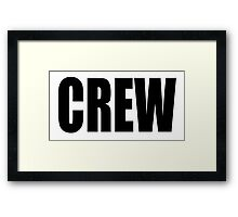 CREW, Black type Framed Print