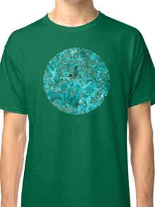 Marble Turquoise Blue Gold Classic T-Shirt
